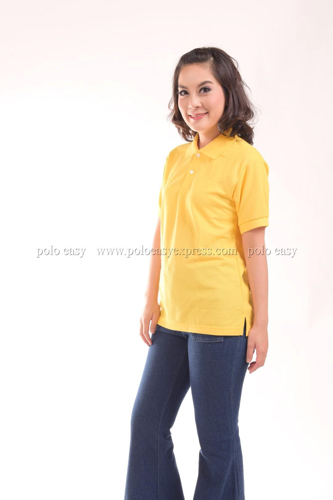 เสื้อโปโล สีเหลือง TK Premium แขนสั้น ทรงตรง Size S