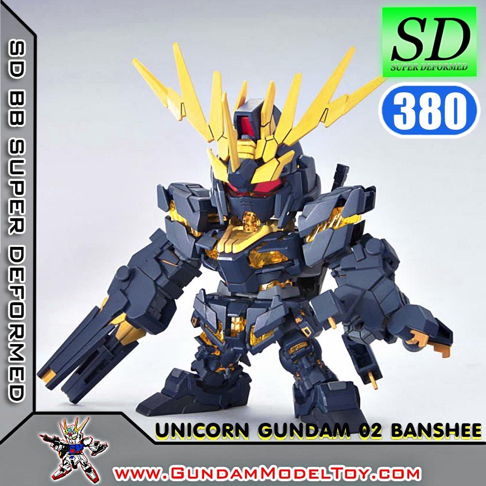 SD BB380 UNICORN GUNDAM 02 BANSHEE ยูนิคอร์น กันดั้ม 02 บันชี