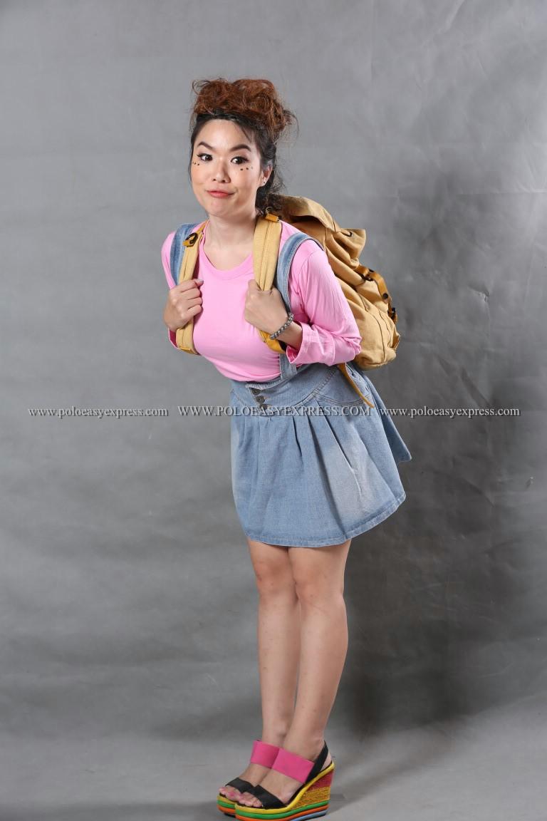 เสื้อยืด สีชมพูอ่อน คอกลม แขนยาว Size M สำเนา