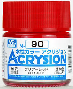 ACRYSION N90 CLEAR RED สีแดงใส