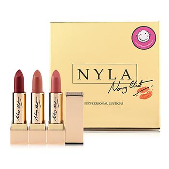 Nyla Lipstick Nongchat เนื้อมอยซ์เจอร์ไรส์เซอร์ ลิปทอง ลิปน้องฉัตร