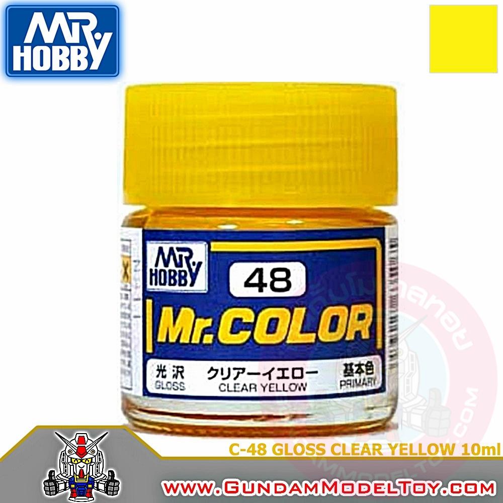 MR.COLOR C-48 GLOSS CLEAR YELLOW สีเหลืองใสเงา