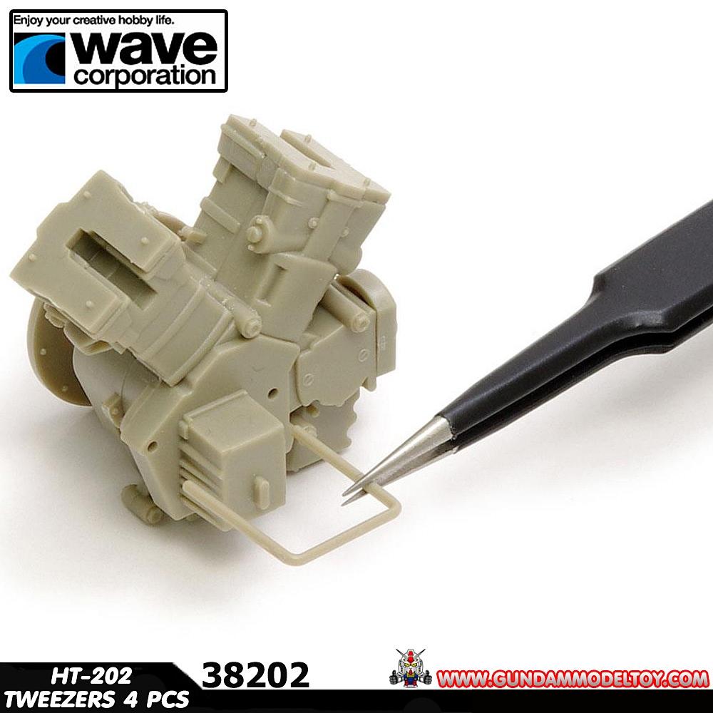 WAVE HT-202 ULTRA FINE NEEDLE TWEEZERS 4 PCS