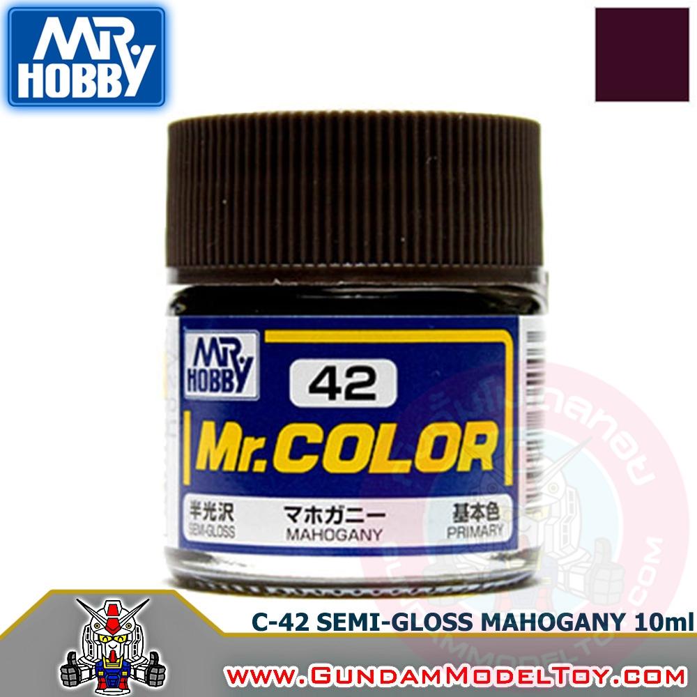 MR.COLOR C-42 SEMI-GLOSS MAHOGANY สีไม้โอ๊คกึ่งเงากึ่งด้าน