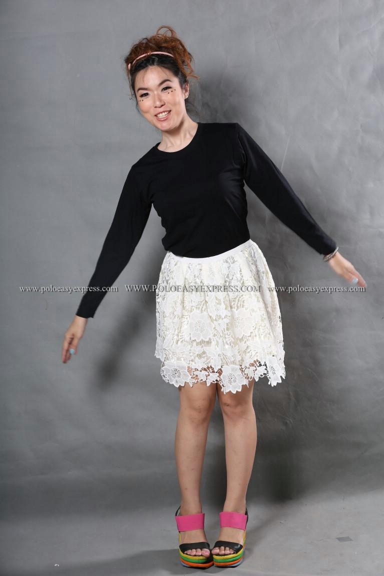 เสื้อยืด สีดำ คอกลม แขนยาว Size M