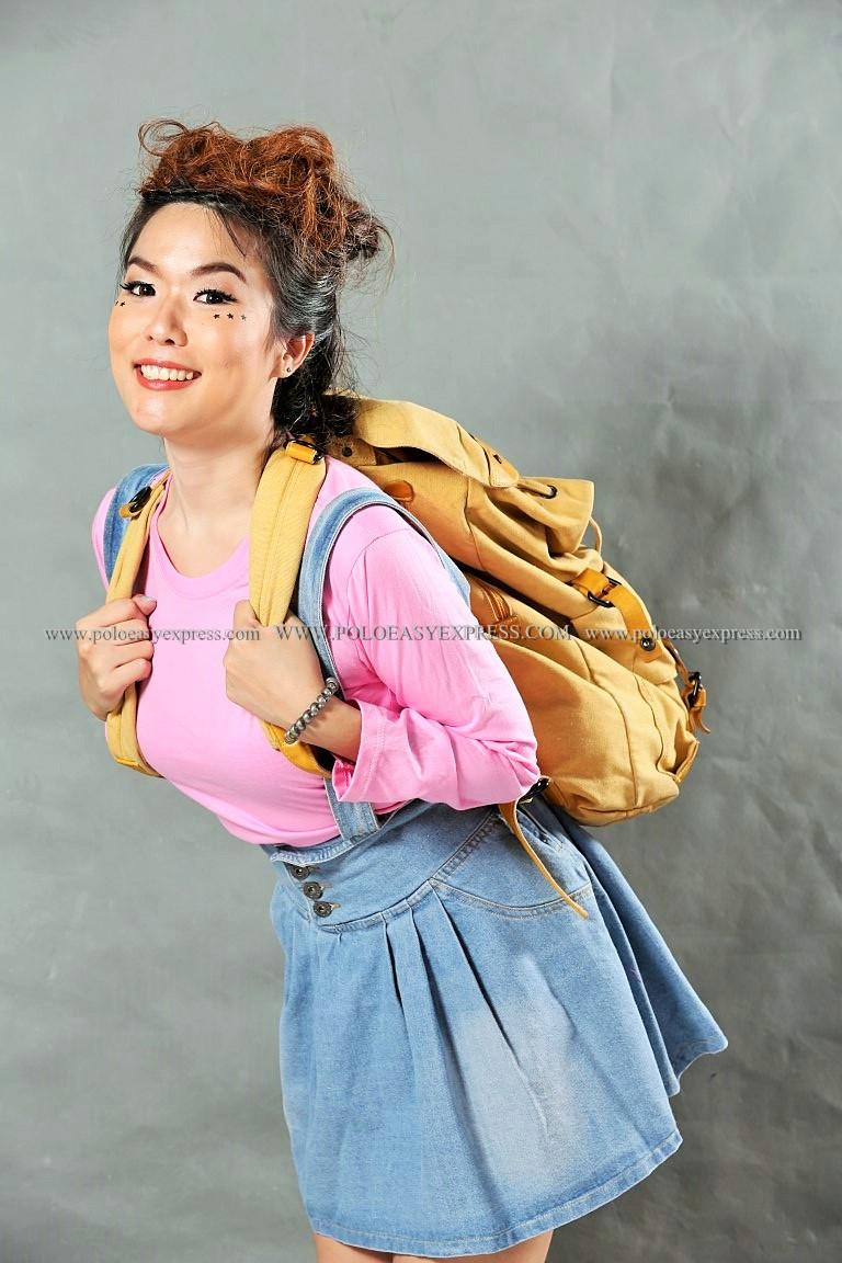 เสื้อยืด สีชมพูอ่อน คอกลม แขนยาว Size L สำเนา