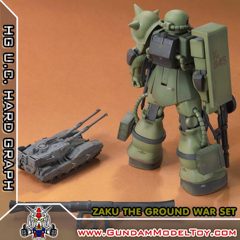 HG 1/144 ZAKU THE GROUND WAR SET