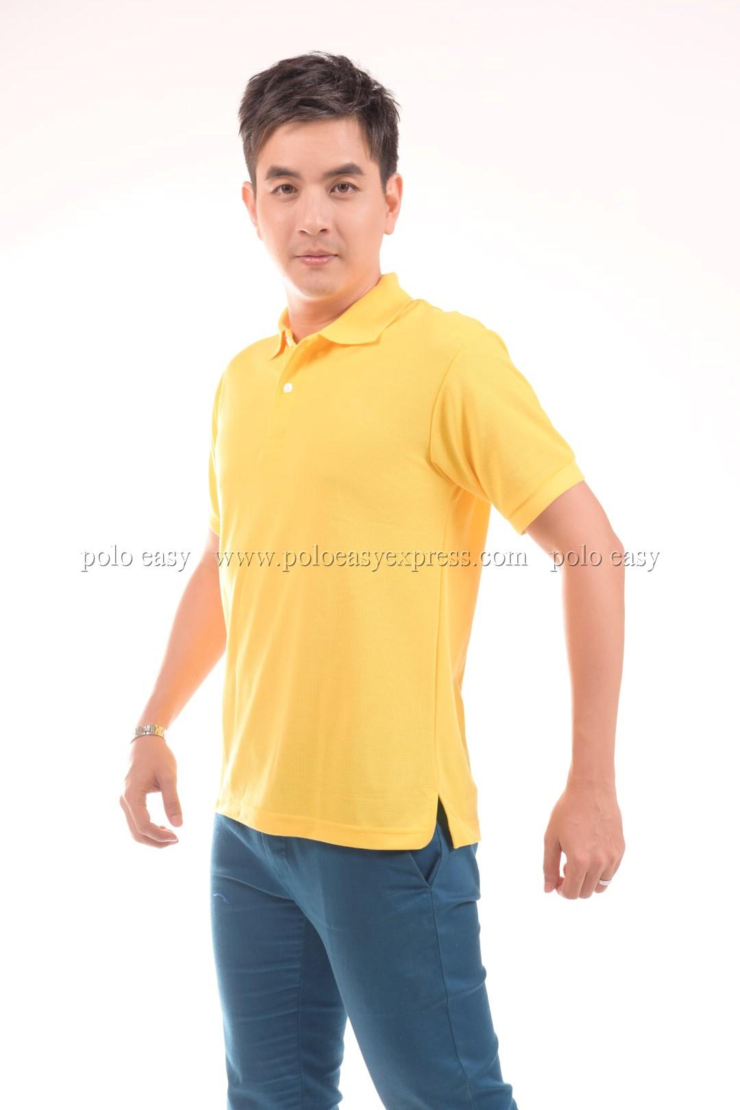 เสื้อโปโล สีเหลือง TK Premium แขนสั้น ทรงตรง Size XL