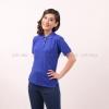เสื้อโปโล สีน้ำเงิน TK Premium แขนสั้น ทรงเว้า (หญิง) Size 3XL
