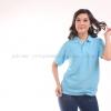 เสื้อโปโล สีฟ้าอ่อน TK Premium แขนสั้น ทรงเว้า (หญิง) Size L