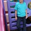 เสื้อยืดเด็ก สีเขียวมิ้นต์ คอกลม แขนสั้น Size L