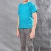 เสื้อยืดเด็ก สีหยก คอกลม แขนสั้น Size XL สำเนา