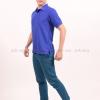 เสื้อโปโล สีน้ำเงิน TK Premium แขนสั้น ทรงตรง Size XL