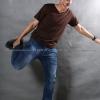 3XL เสื้อยืด สีน้ำตาล คอวี แขนสั้น Size 3XL