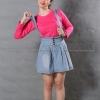 เสื้อยืด สีชมพู Pinky คอกลม แขนยาว Size M