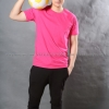 2XL เสื้อยืด สีชมพู Pinky คอกลม แขนสั้น Size 2XL