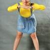 เสื้อยืด สีเหลือง คอกลม แขนยาว Size M สำเนา