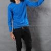 เสื้อยืด สีฟ้าทะเล คอกลม แขนยาว Size 3XL สำเนา