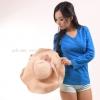 เสื้อยืด สีฟ้าทะเล คอวี แขนยาว Size 4XL