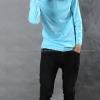 เสื้อยืด สีฟ้าอ่อน คอกลม แขนยาว Size L