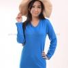 เสื้อยืด สีฟ้าทะเล คอวี แขนยาว Size S สำเนา