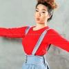 เสื้อยืด สีแดง คอกลม แขนยาว Size 3XL