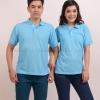 เสื้อโปโล สีฟ้าอ่อน TK Premium แขนสั้น ทรงตรง Size 2XL
