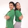 เสื้อโปโล สีเขียวใบไม้ TK Premium แขนสั้น ทรงตรง Size 3XL