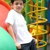 เสื้อยืดเด็ก สีขาว คอกลม แขนสั้น Size L