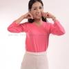 เสื้อยืด สีชมพู Sweety คอวี แขนยาว Size S สำเนา