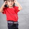 เสื้อยืดเด็ก สีแดง คอกลม แขนสั้น Size M