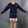 เสื้อยืด สีกรมท่า คอกลม แขนยาว Size S