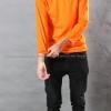 เสื้อยืด สีส้ม คอกลม แขนยาว Size 4XL สำเนา