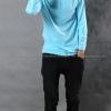 เสื้อยืด สีฟ้าอ่อน คอกลม แขนยาว Size XL สำเนา