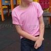 เสื้อยืดเด็ก สีชมพูอ่อน คอกลม แขนสั้น Size XL