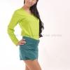 เสื้อยืด สีเขียวมะนาว คอวี แขนยาว Size XL สำเนา