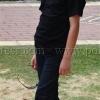 เสื้อยืดเด็ก สีดำ คอกลม แขนสั้น Size M