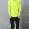เสื้อยืด สีเขียวมะนาว คอกลม แขนยาว Size 2XL