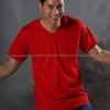 4XL เสื้อยืด สีแดง คอวี แขนสั้น Size 4XL สำเนา