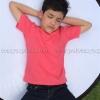 เสื้อยืดเด็ก สีชมพู Sweety คอกลม แขนสั้น Size S