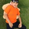 เสื้อยืดเด็ก สีส้ม คอกลม แขนสั้น Size XL