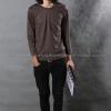 เสื้อยืด สีเทาเข้ม คอกลม แขนยาว Size 4XL สำเนา