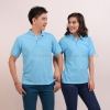 เสื้อโปโล สีฟ้าอ่อน TK Premium แขนสั้น ทรงตรง Size 4XL