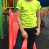 เสื้อยืดเด็ก สีเขียวมะนาว คอกลม แขนสั้น Size XL