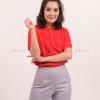เสื้อโปโล สีแดง TK Premium แขนสั้น ทรงเว้า (หญิง) Size 3XL