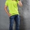 2XL เสื้อยืด สีเขียวมะนาว คอวี แขนสั้น Size 2XL สำเนา
