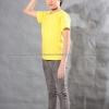 เสื้อยืดเด็ก สีเหลือง คอกลม แขนสั้น Size S
