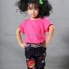 เสื้อยืดเด็ก สีชมพู Pinky คอกลม แขนสั้น Size XL