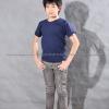 เสื้อยืดเด็ก สีกรมท่า คอกลม แขนสั้น Size XL