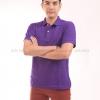 เสื้อโปโล สีม่วง TK Premium แขนสั้น ทรงตรง Size L